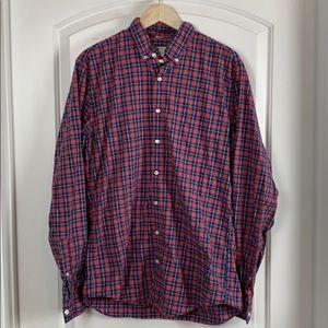 J Crew Men's Plaid Shirt Size LT